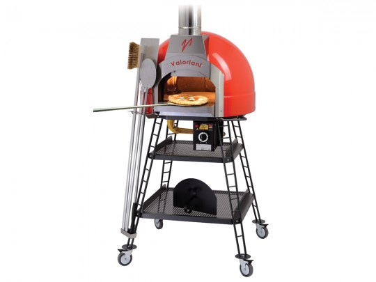 Pizza ovens for wood and gas